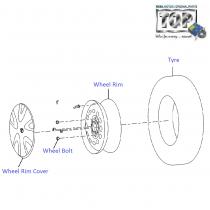 TATA Wheel RIM & Covers for Indica, Indigo, Safari, Strome