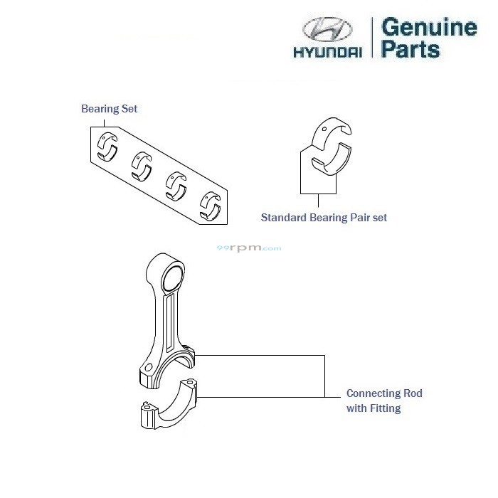 Hyundai Grand i10 1.2 Petrol: Connecting Rod