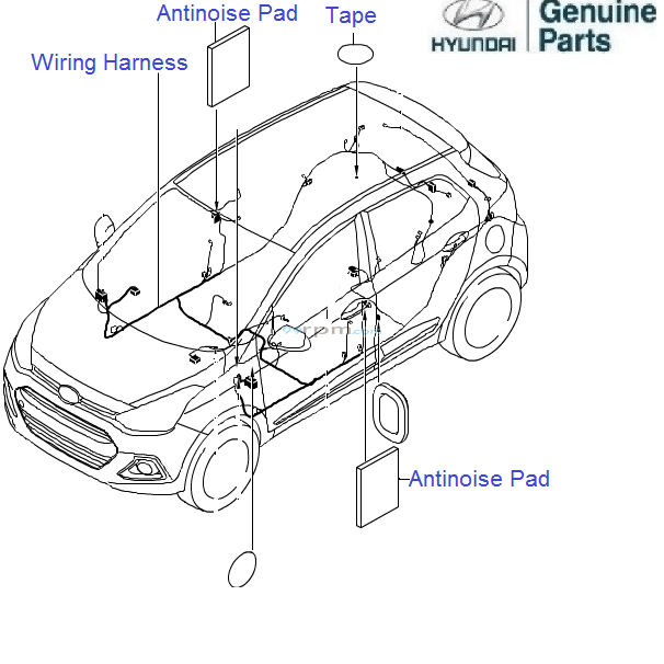 Hyundai Grand i10 1.2 Petrol: Floor Wiring Harness