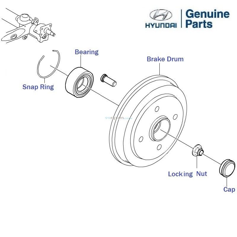 Hyundai EON: Rear Brake Drum