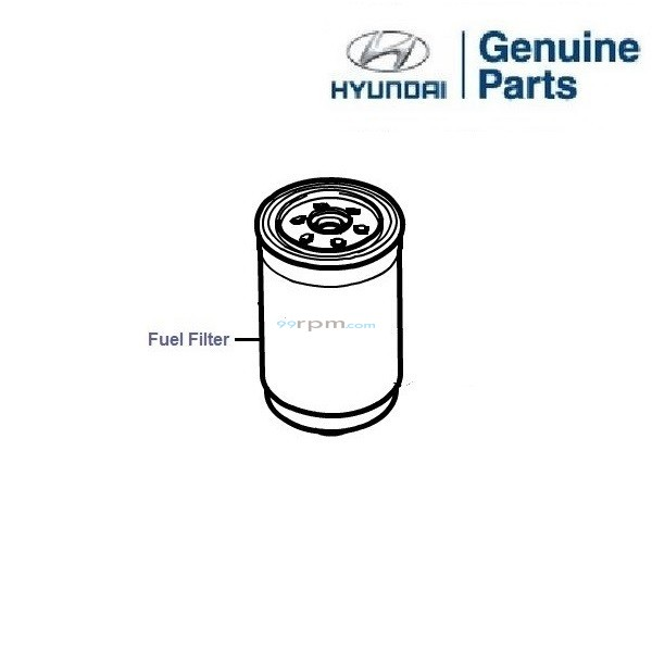 Hyundai Grand i10 1.1 CRDi: Fuel Filter
