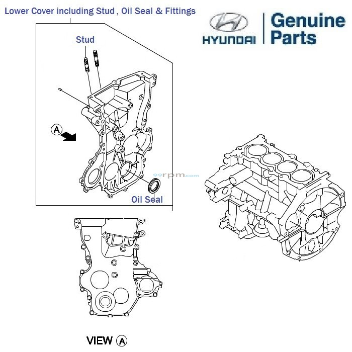 Hyundai Grand i10 1.2 Petrol: Timing Belt Cover, oil seal