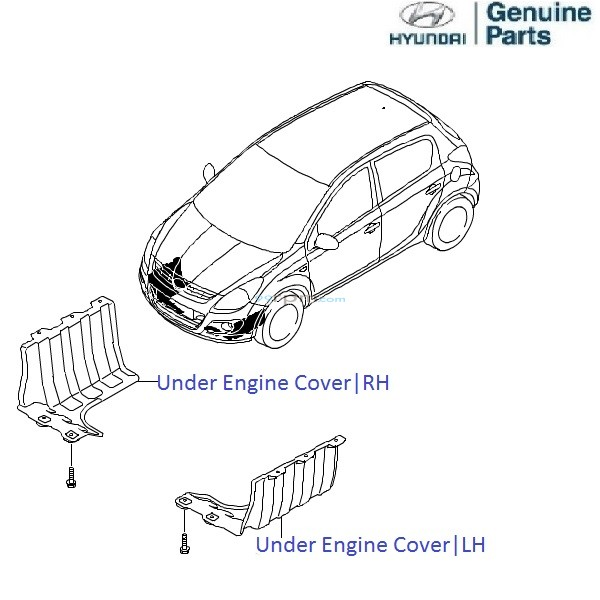 Hyundai i20 1.2 Petrol: Under Engine Cover/Mud Guard