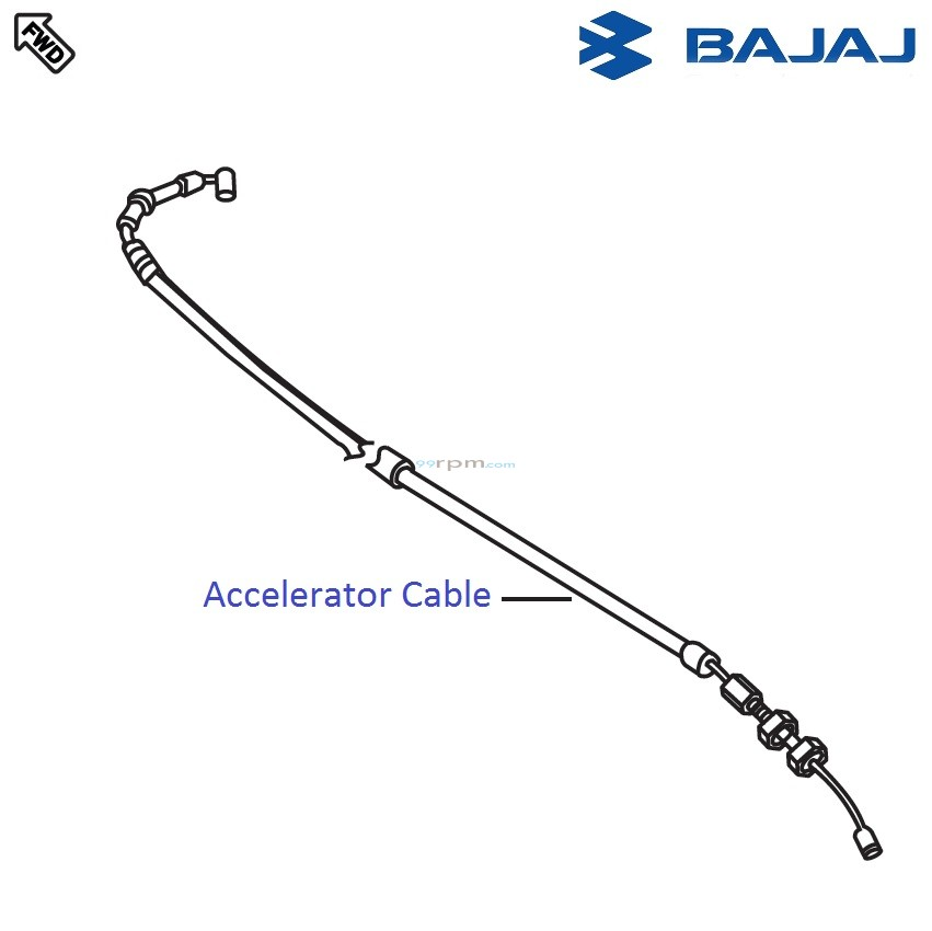 Bajaj Pulsar 220F DTS-i: Accelerator Cable/Throttle Cable