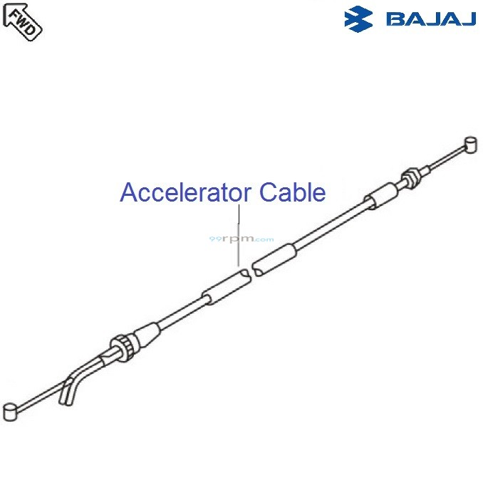 Bajaj Avenger 180 DTSi: Accelerator Cable