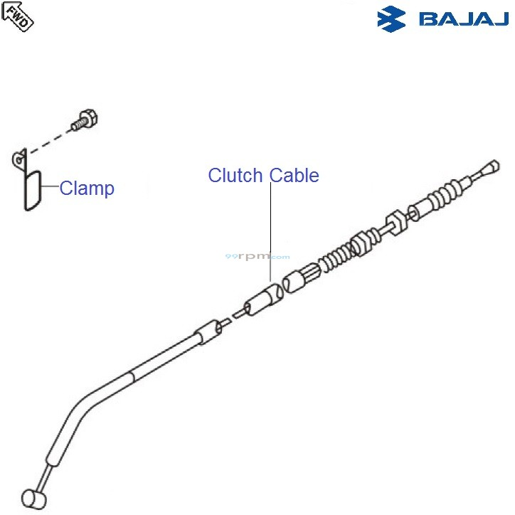 Bajaj Avenger 180 DTSi: Clutch Cable