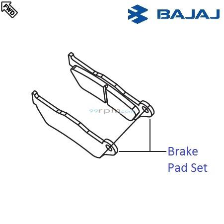 Bajaj Pulsar 220F DTS-i: Front Brake Pad Set