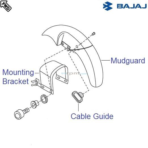Bajaj Pulsar 150 UG4 DTS-i: Front Mudguard
