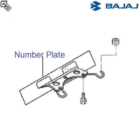 Bajaj Avenger 180 DTSi: Front Number Plate