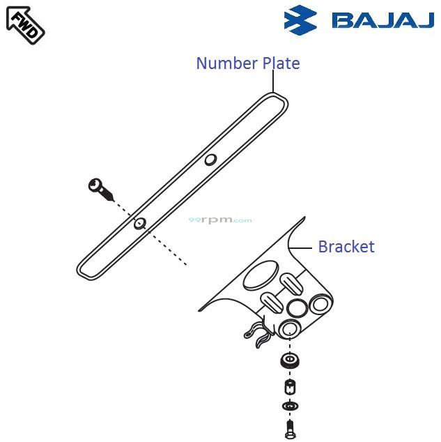 Bajaj Pulsar 220S DTS-i: Front Number Plate