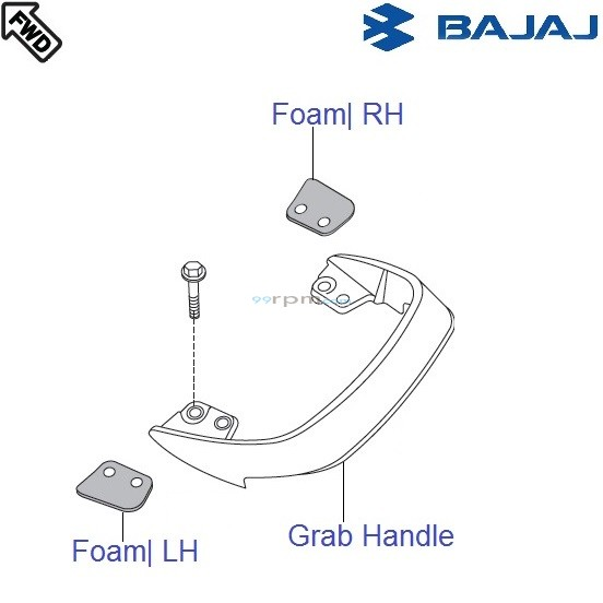 Bajaj Pulsar 150 UG4 DTS-i: Grab Handle