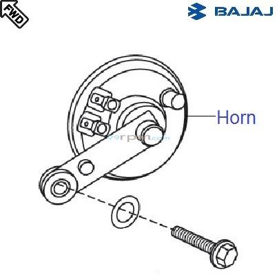 Bajaj Pulsar 150 UG4 DTS-i: Horn