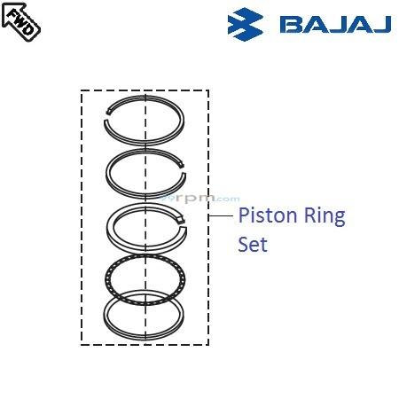 Bajaj Pulsar 220F DTSi: Piston Ring Set