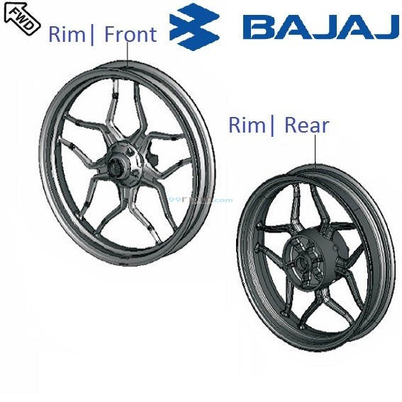 Bajaj Pulsar AS200: Wheel Rim