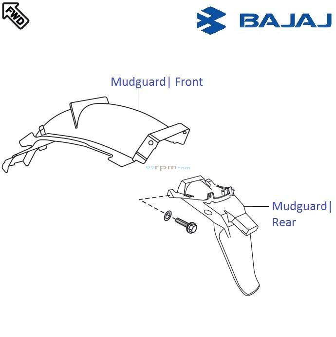 Bajaj Pulsar 220F DTS-i: Rear Mudguard