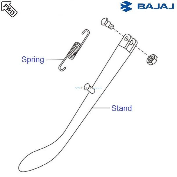 Bajaj Avenger 180 DTSi: Side Stand