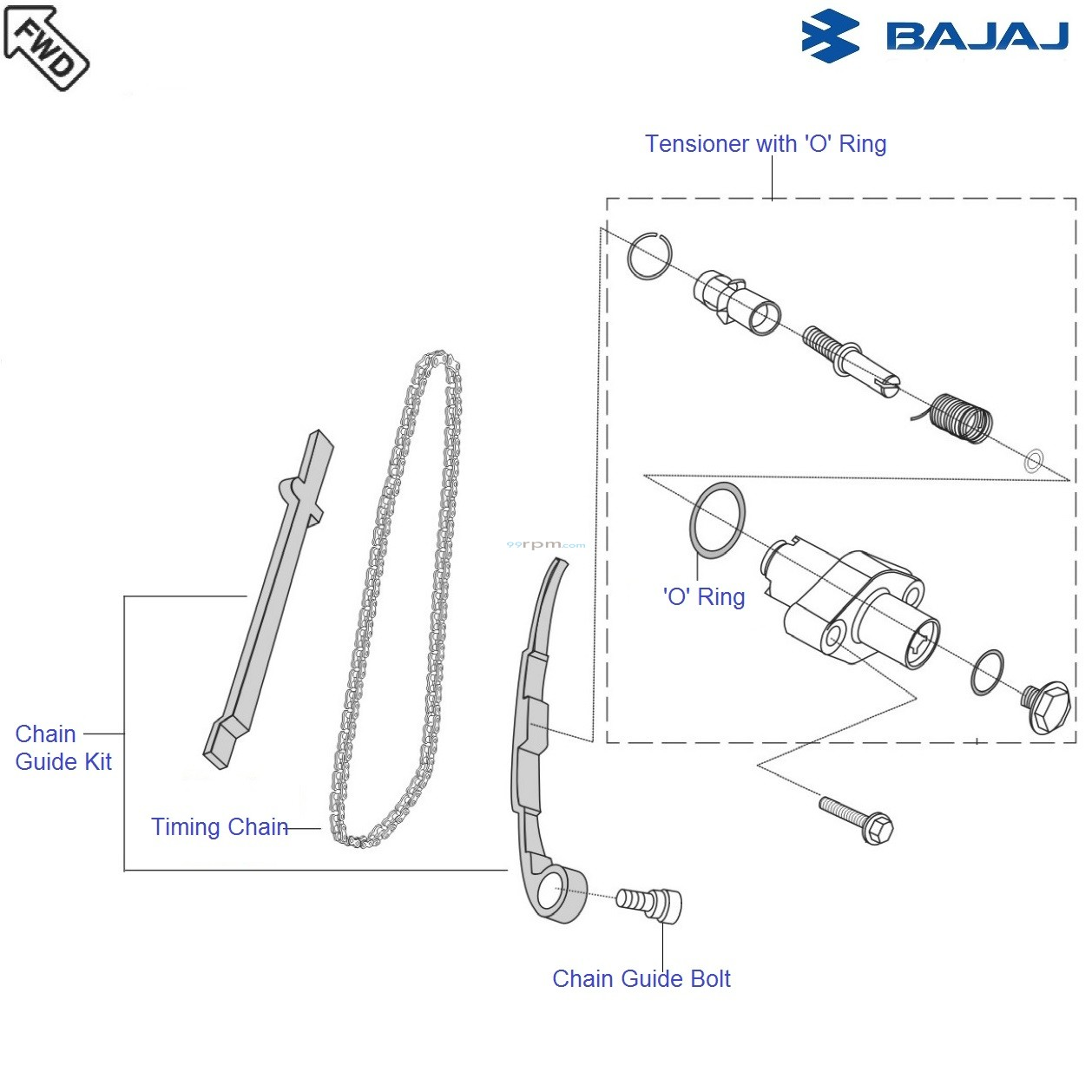 Bajaj Avenger 180 DTSi: Timing Chain