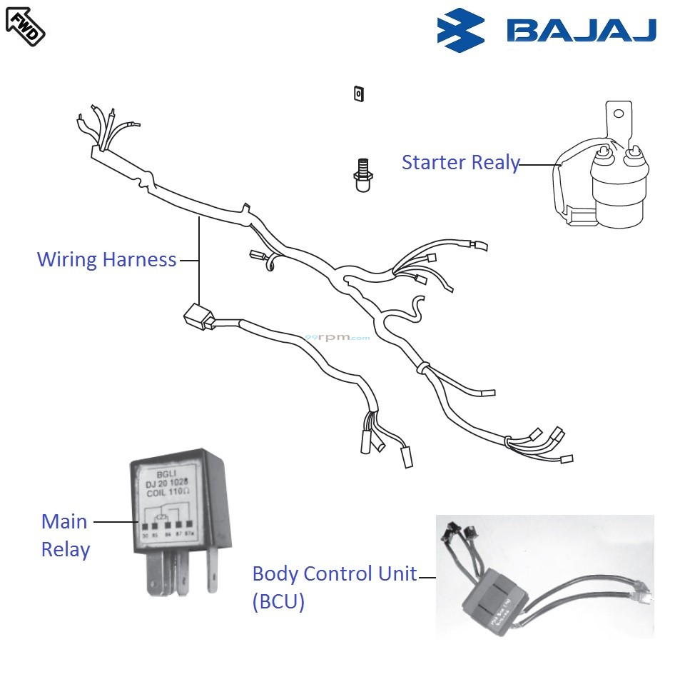 Bajaj Pulsar 220F DTSi: Wiring and Relays