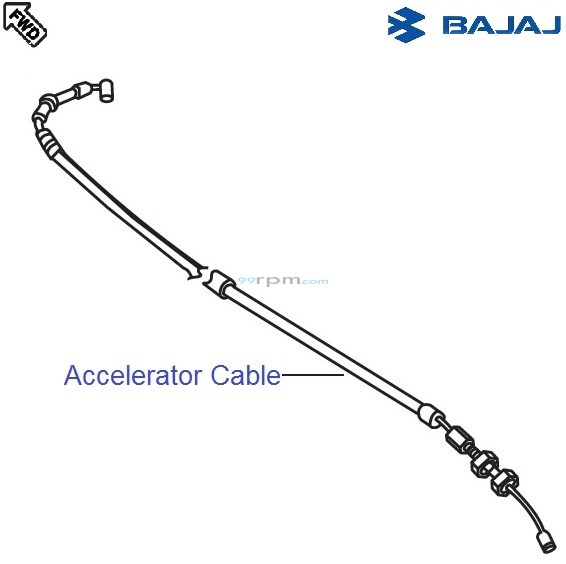 Bajaj Pulsar 150 UG4 DTS-i: Accelerator Cable/ Throttle Cable