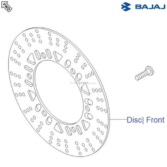 Bajaj Avenger 180 DTSi: Brake Disc