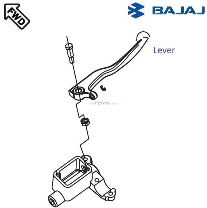 Bajaj Pulsar 220F DTSi: Front Brake Lever