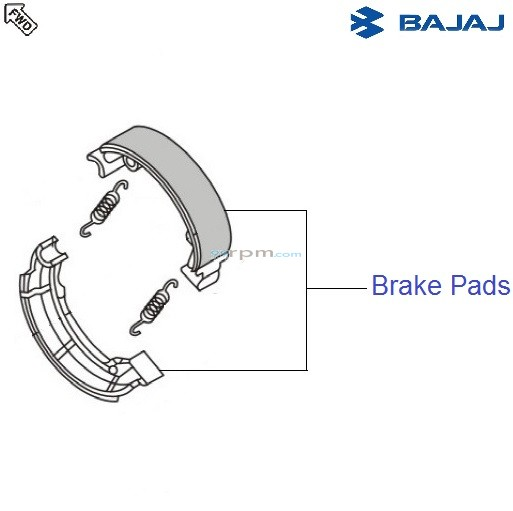 Bajaj Avenger 180 DTSi: Rear Brake Shoes