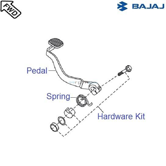 Bajaj Pulsar 150 UG4 DTS-i: Brake Pedal
