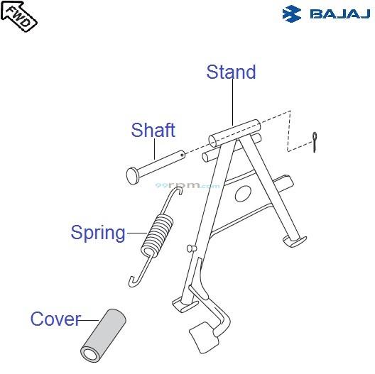 Bajaj Pulsar 150 UG4 DTS-i: Center Stand