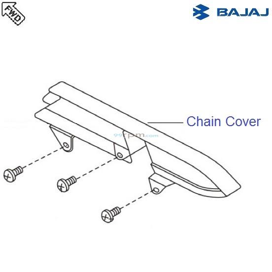 Bajaj Avenger 180 DTSi: Chain Cover