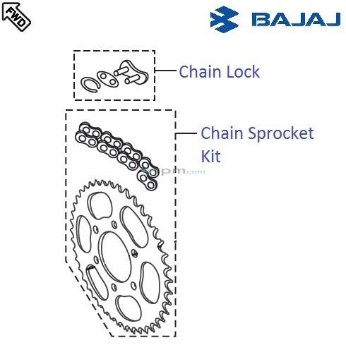 Bajaj Pulsar 220F DTSi: Chain Sprocket Kit