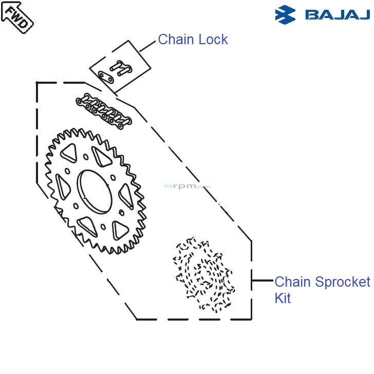 Bajaj Avenger 220 DTS-i: Chain Sprocket Kit