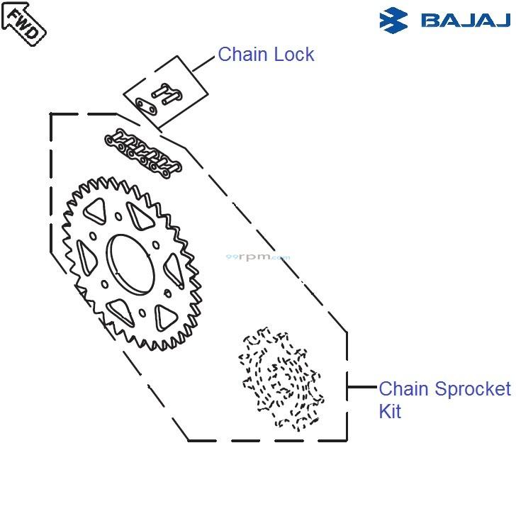 Bajaj Avenger 220 DTS-i: Chain Sprocket Kit
