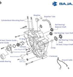 bajaj pulsar 220f dts i left side engine crankcase and associated bajaj bike engine diagram [ 1090 x 1090 Pixel ]