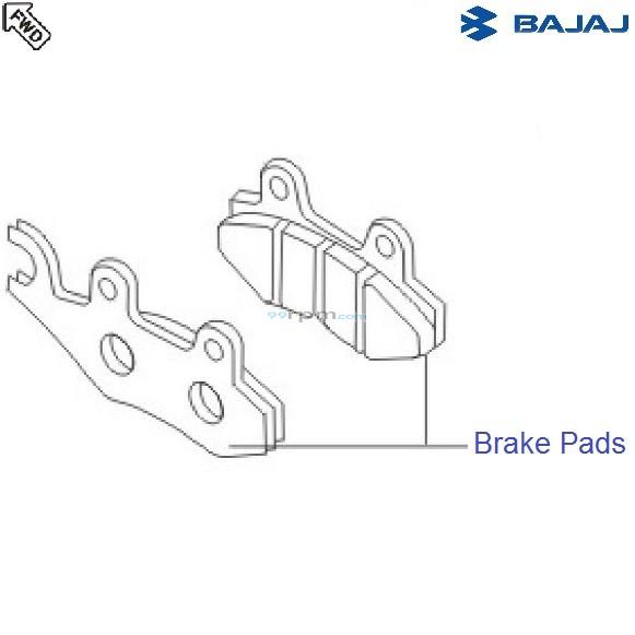 Bajaj Avenger 180 DTSi: Front Brake Pads