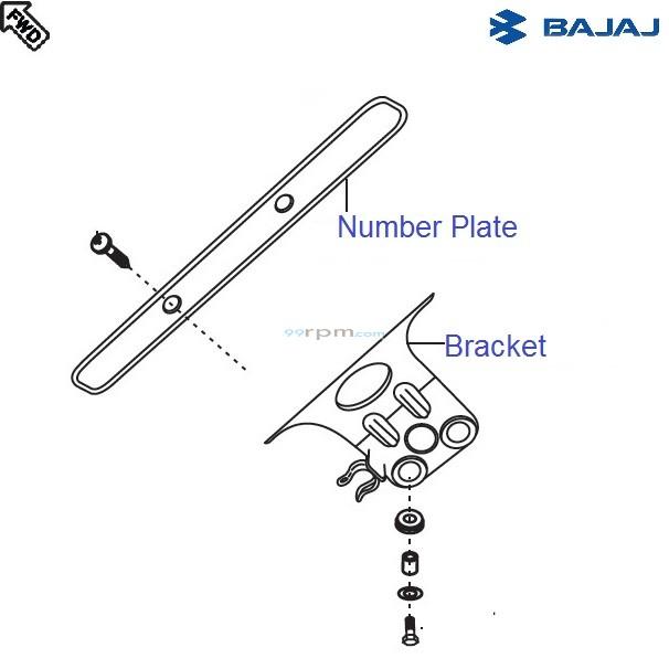 Bajaj Pulsar 150 UG4 DTS-i: Front Number Plate