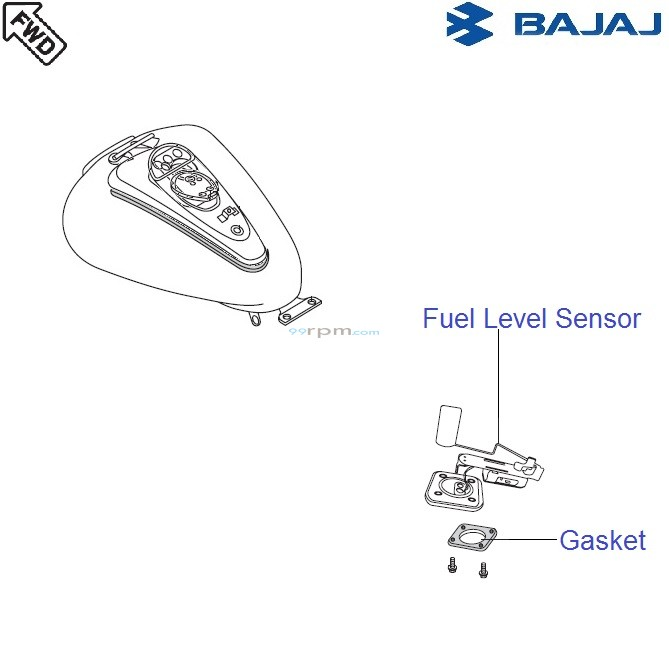Bajaj Avenger 220 DTS-i: Fuel Level Sensor