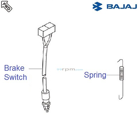 Bajaj Avenger 180 DTSi: Rear Brake Switch