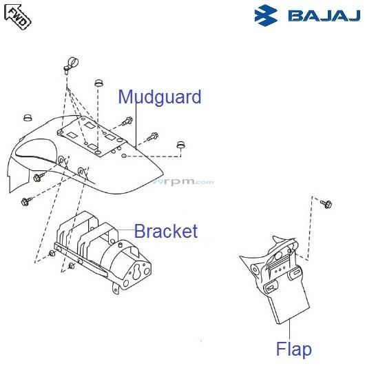 Bajaj Avenger 180 DTSi: Rear Mudguard