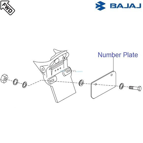 Bajaj Avenger 220 DTS-i: Rear Number Plate
