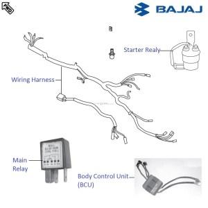 Bajaj Pulsar 220F DTSi: Wiring and Relays