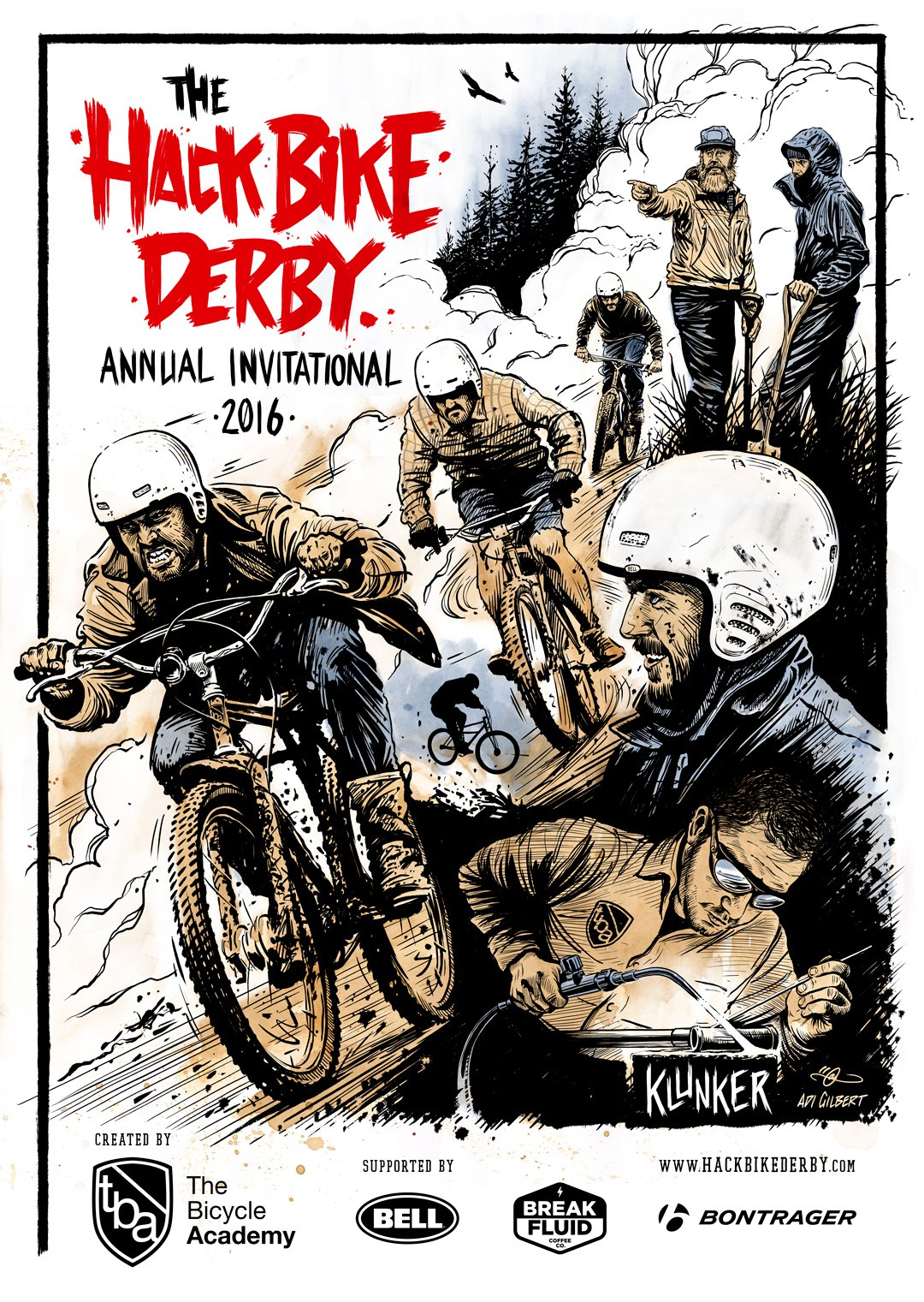 Hack Bike Derby Poster By Adi Gilbert