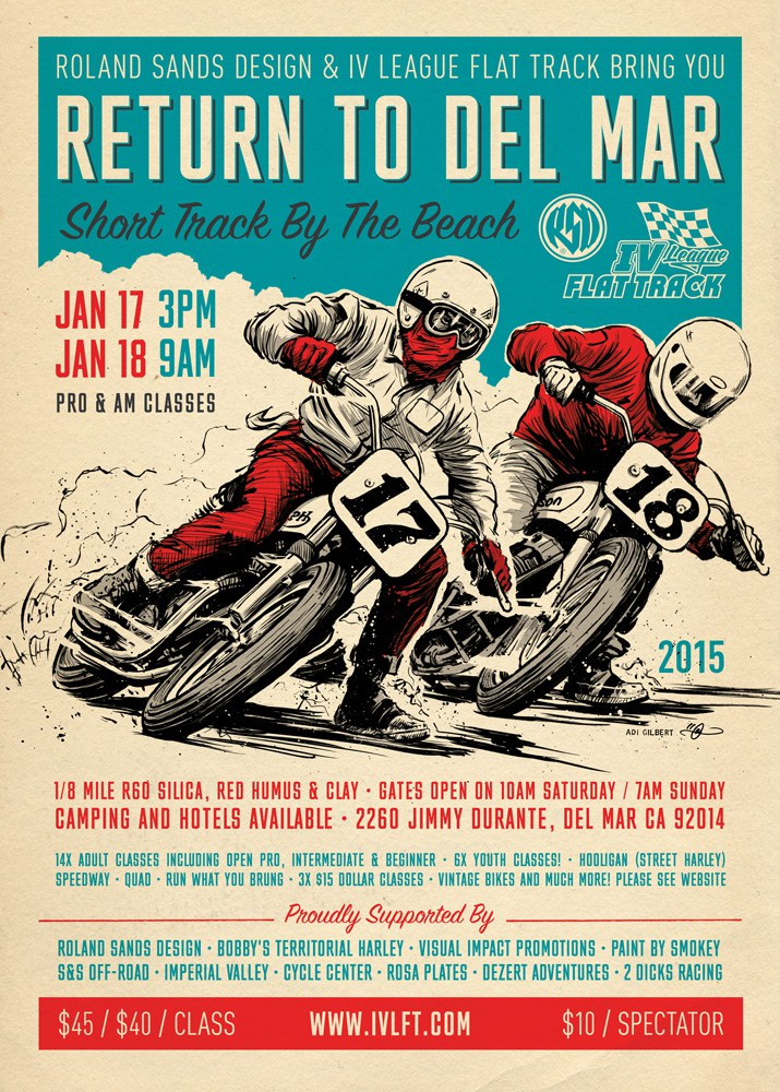 Return to Del Mar poster by Adi Gilbert