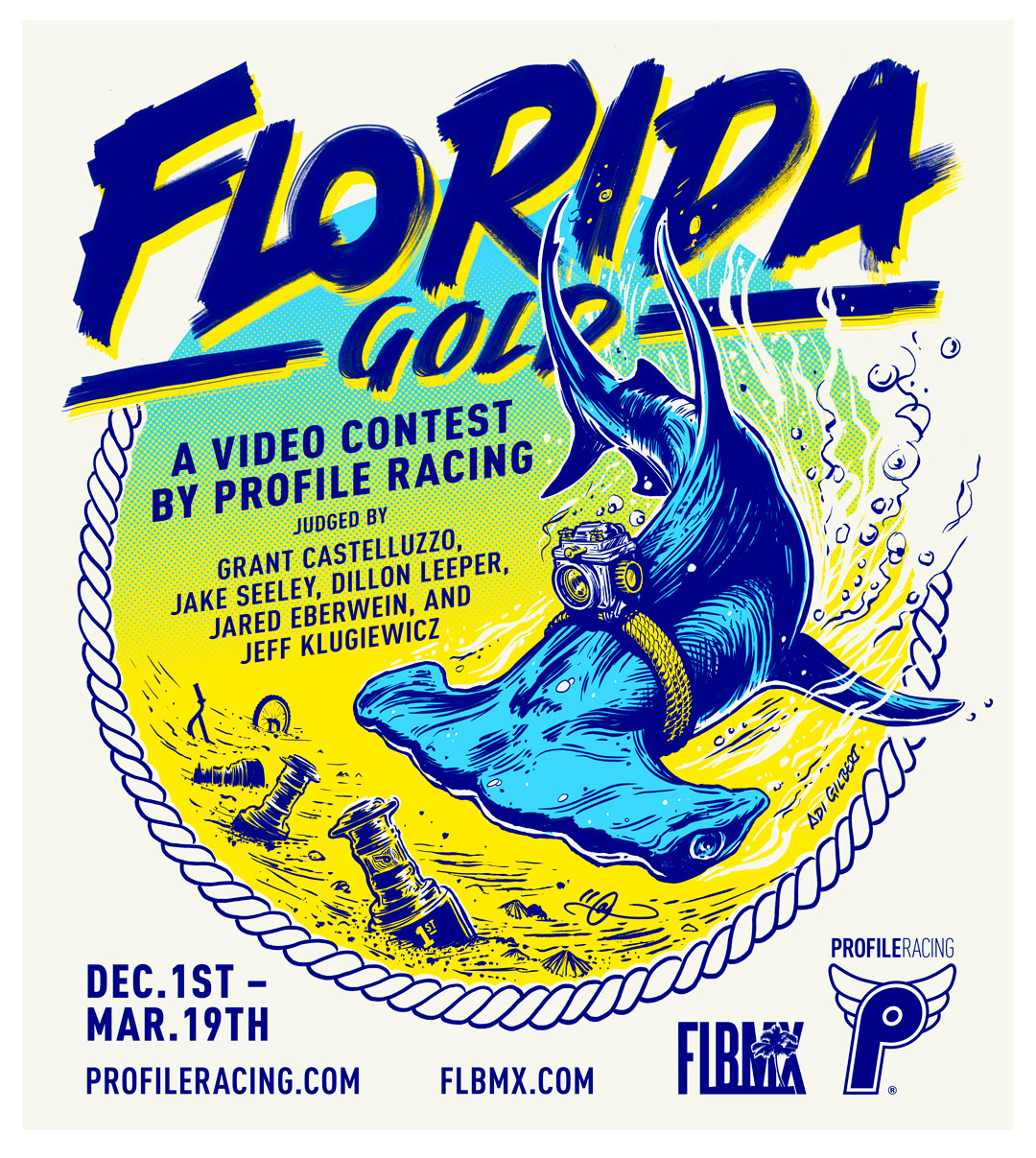 Florida Gold BMX - Illustration / Design By Adi Gilbert