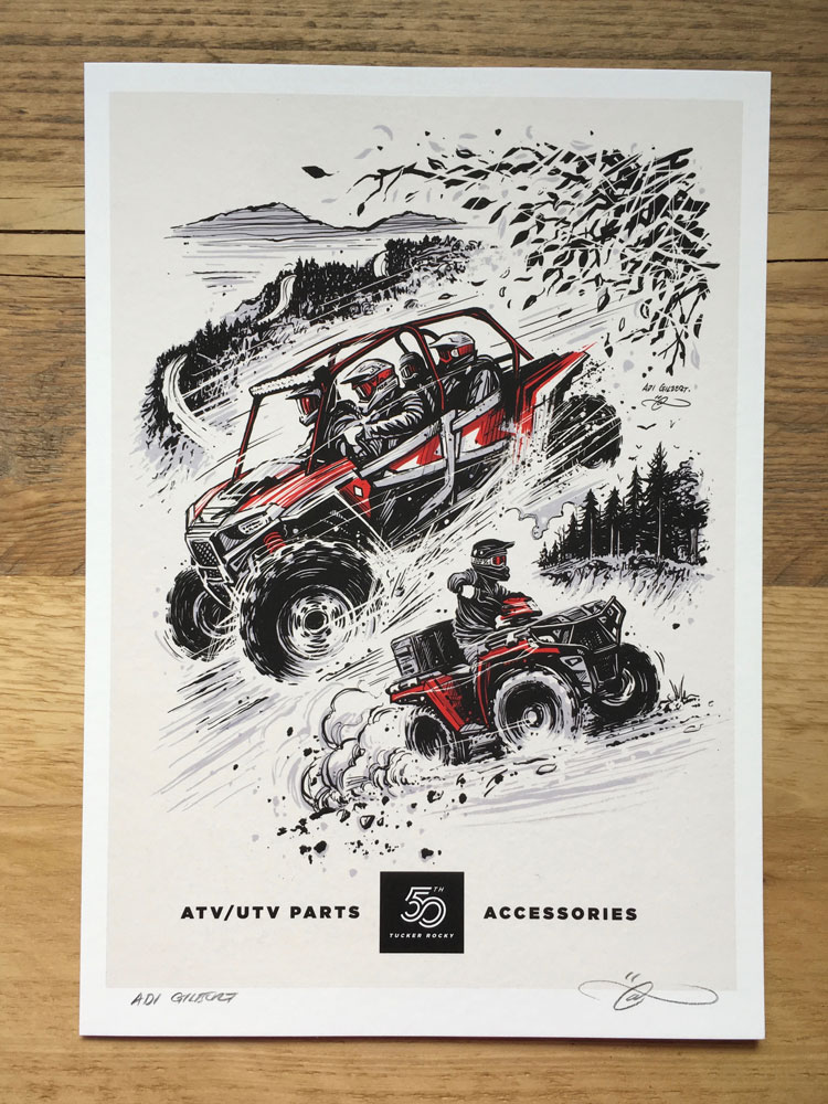 ATV / UTV print (with logo / title) by Adi Gilbert