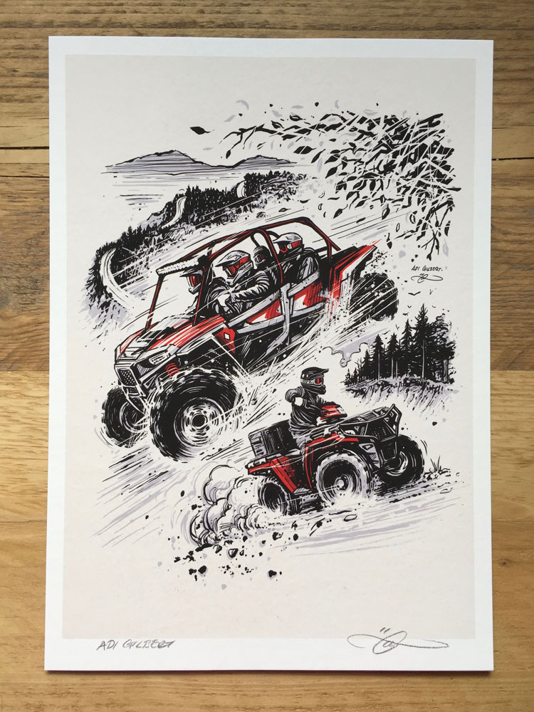 ATV / UTV print (without logo / title) by Adi Gilbert