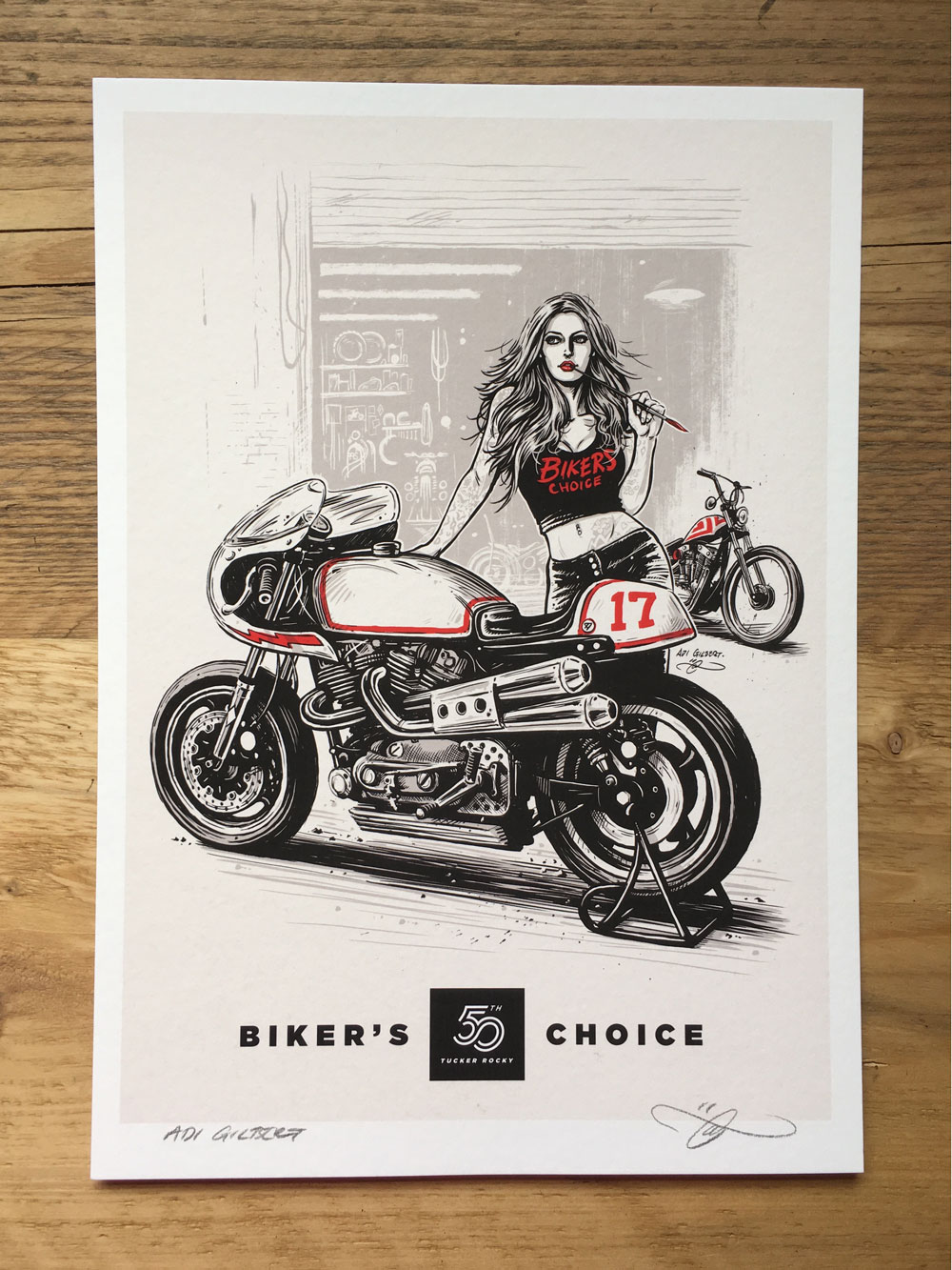 Bikers Choice (with logo / title) - By Adi Gilbert