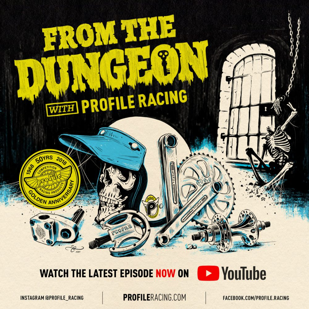 From the Dungeon with Profile Racing. Instagram promo - Illustration By Adi Gilbert