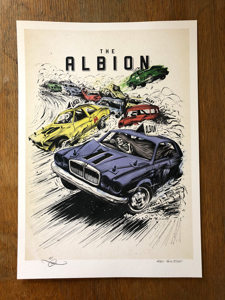 The Albion #11. BMX Magazine cover by Adi Gilbert