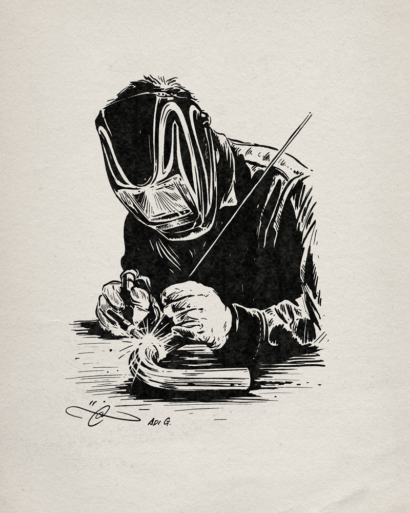 Welder Inks By Adi Gilbert