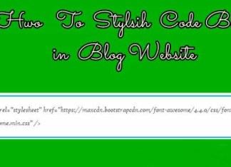 Code box for blog